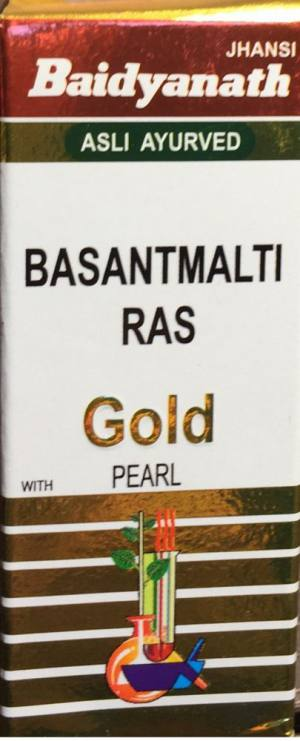 BASANTMALTI RAS (WITH GOLD & PEARL),10ТАБ BAIDYANATH